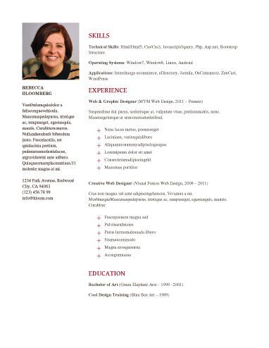 acting resume template with picture latex free option neat