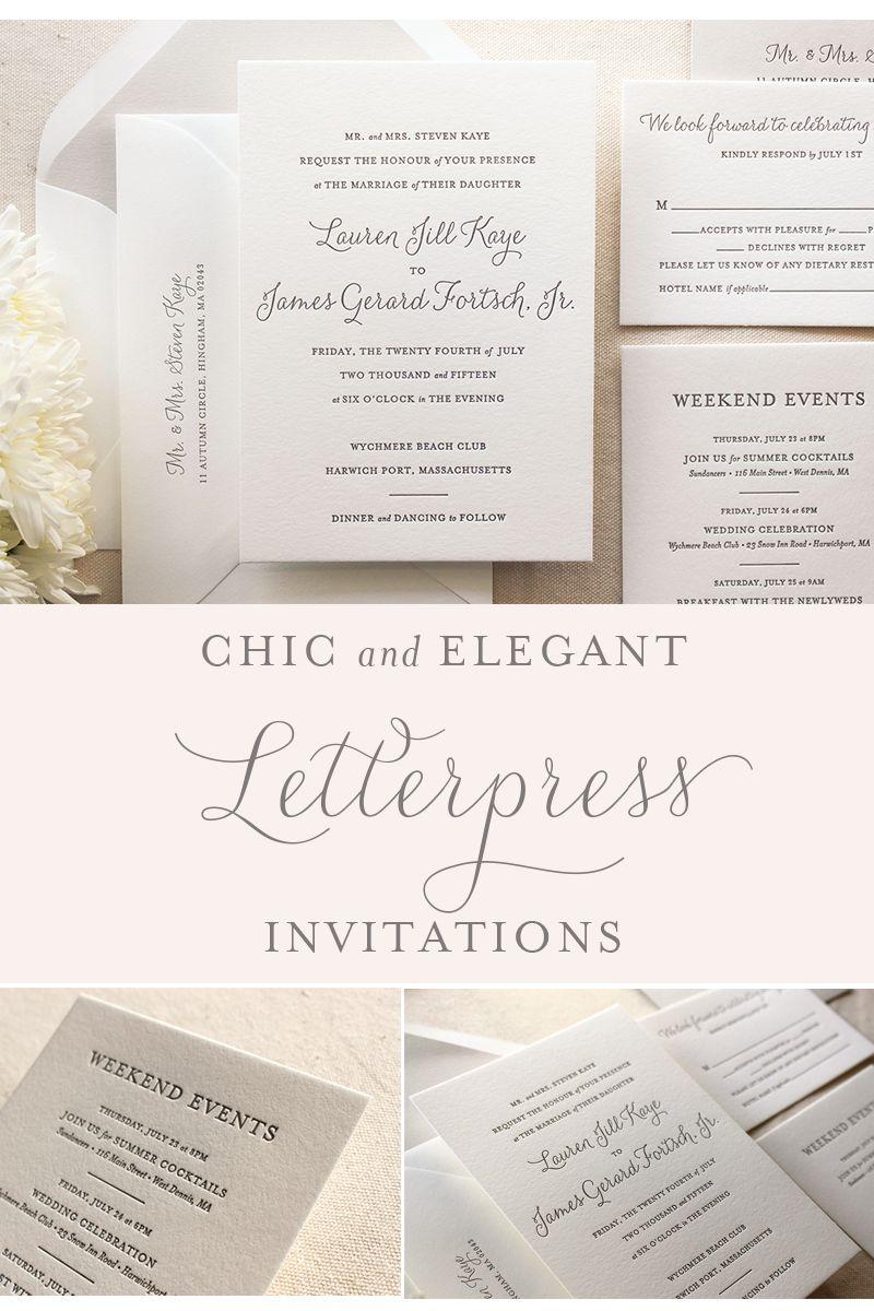 Elegant Letterpress Wedding Invitations - The Lily Suite - Dinglewood  Design & … | Camping wedding invitations, Letterpress wedding invitations, Wedding  invitations