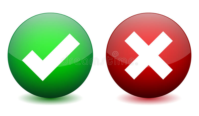 Right And Wrong Icon Stock Vector Illustration Of Tick 42693448 Illustration Symbols Stock Vector