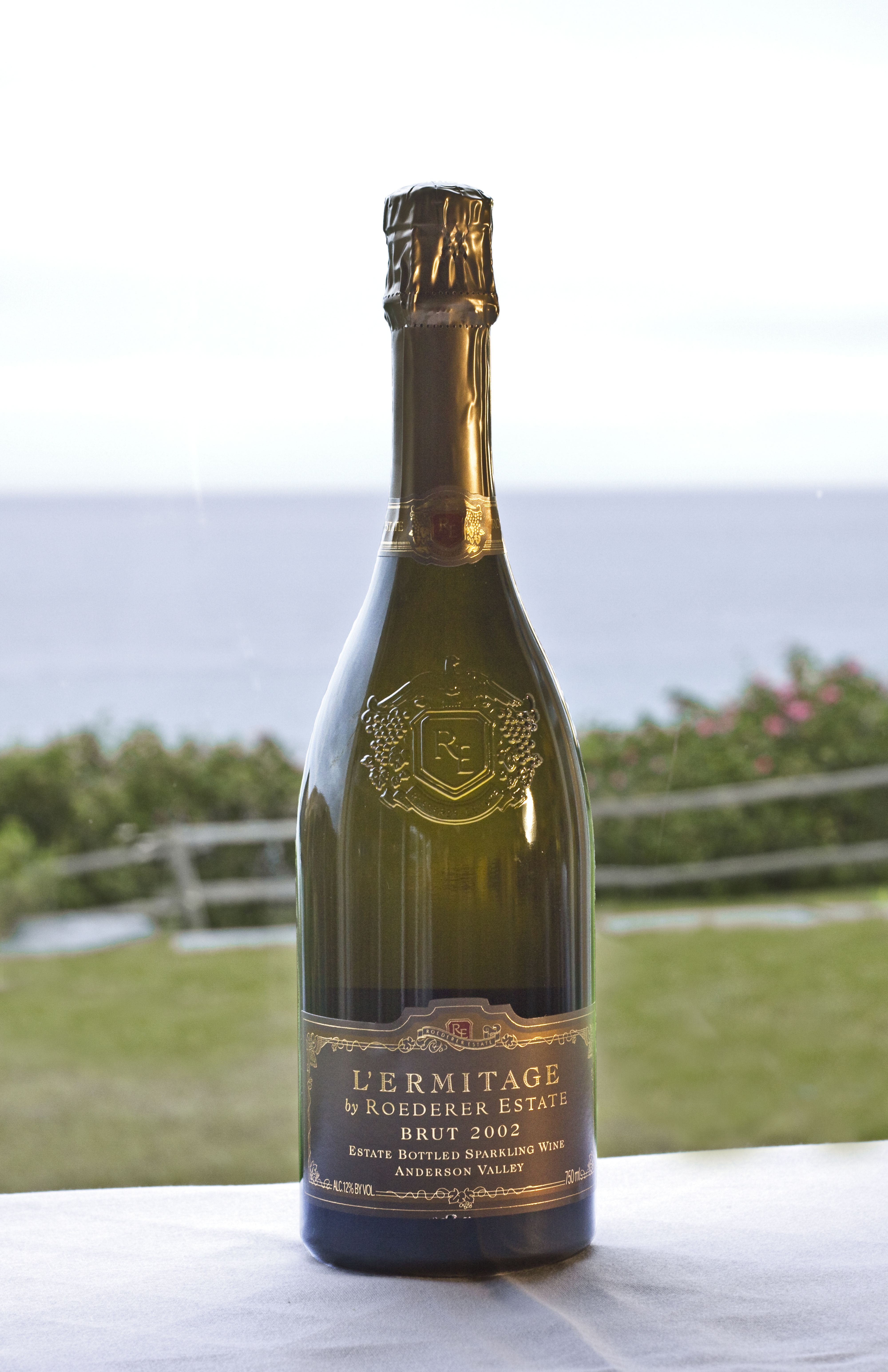 L'ermitage, Roederer Estate, 2002 Anderson Valley Sparkling Wine on Albion River Inn Table 13
