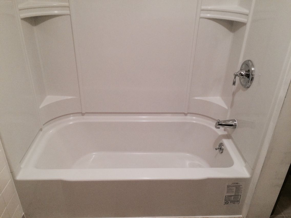 Caulkless, Sterling Accord #tub and surround shower unit. Part of a ...