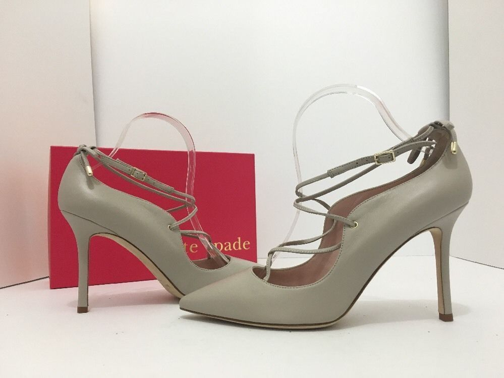 67aa730aaed4 Kate Spade New York Priscilla Pale Taupe Leather Women s High Heels Pumps  ...