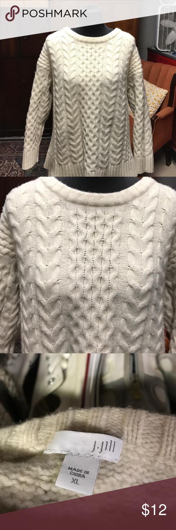 J.Jill Irish knit sweater Beautiful Irish knit sweater EUC J.Jill Sweaters Crew & Scoop Necks