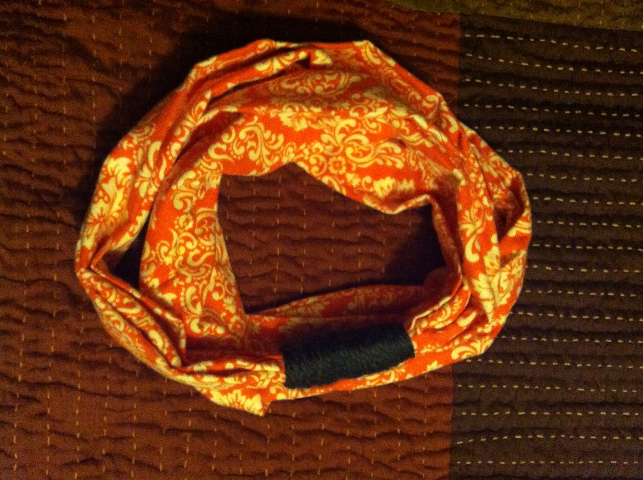 Ally made this infinity scarf! I helped with the crocheting:)