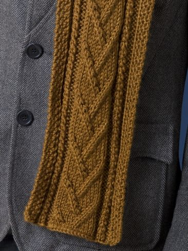 Combo Cable Scarf Yarn Knitting Patterns Crochet