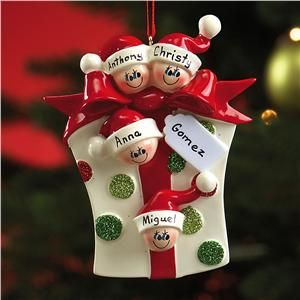 Family Gift Ornaments - with everyone's names! | Lillian Vernon