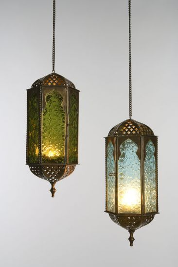 Lanterns from India Marketfor an outdoor patio home