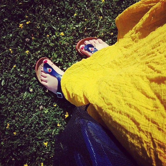 New shoes #birkenstock #sunny #robe  #promod #campagne #piscine il fait bon vivre en Poitou #sunday #cute