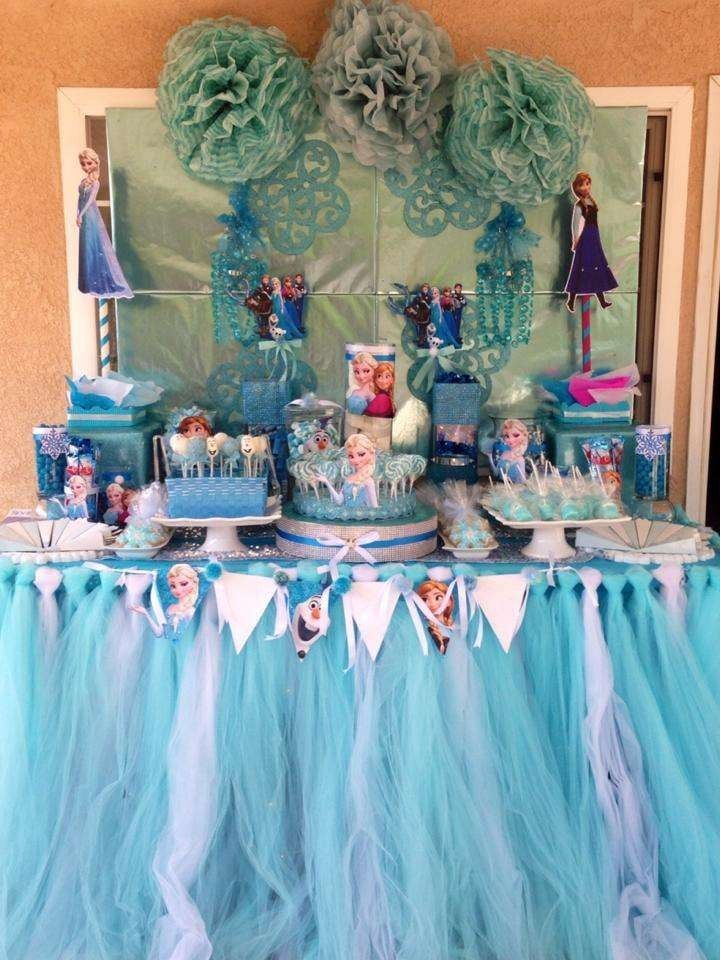 2014 Disney Frozen Birthday Party Table Ideas Halloween design