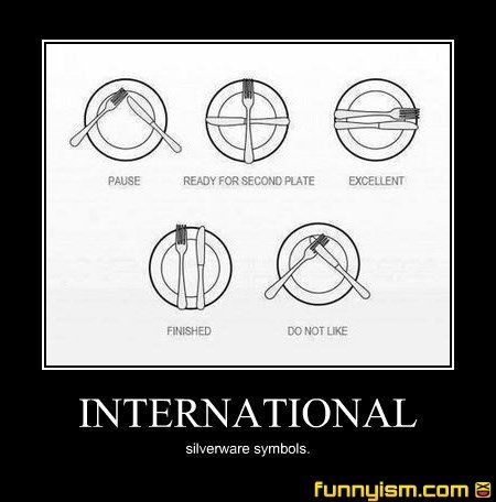 Silverware symbols | Demotivational Pics | Funnyism Funny Pictures