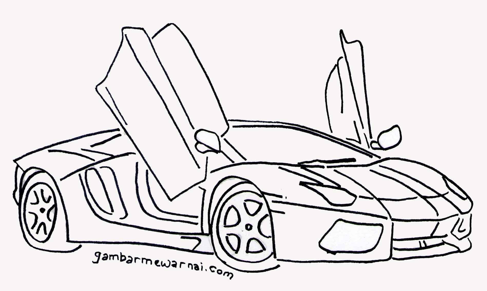 Download Gambar Mewarnai Mobil Keren Warna Gambar Buku Gambar