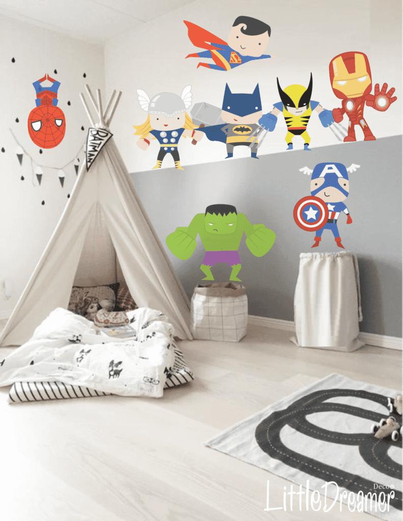 Modelo pc08 super heroes little dreamer deco cuarto for Cuartos montessori para ninas