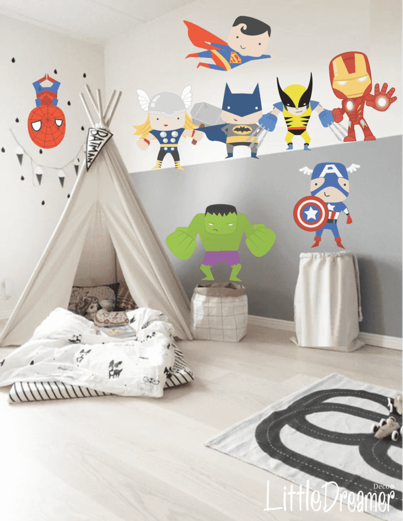 modelo pc08 super heroes little dreamer deco cuarto nico pinterest les gar ons futur. Black Bedroom Furniture Sets. Home Design Ideas