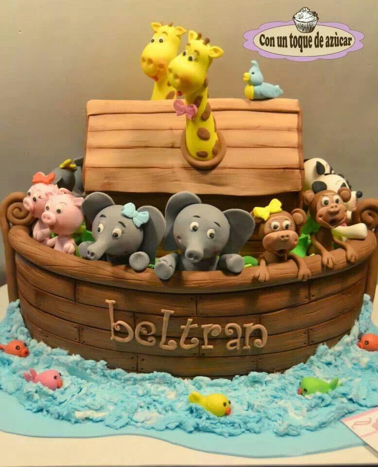 noah's ark christening cake  baby shower, Baby shower invitation