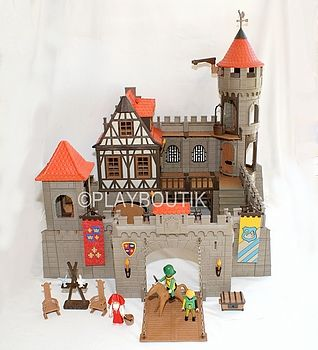 Chateau fort playmobil 3666 vintage http www for Plan chateau fort playmobil