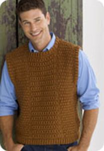 3d679eec56bd5 Guy s Vest  Men s Crochet Sweaters - free patterns your guy will love!   crochet