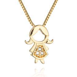 24d6dd1c3a9e6 Pingente Menina Ouro Amarelo e Diamantes Mama   Pingente menino ...