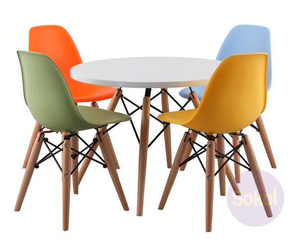 Replica Eames Circular Kids Table Sokol Designer Furniture With