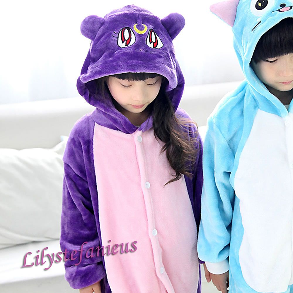 Childrens//Girls Novelty Cat Onesie with Tail