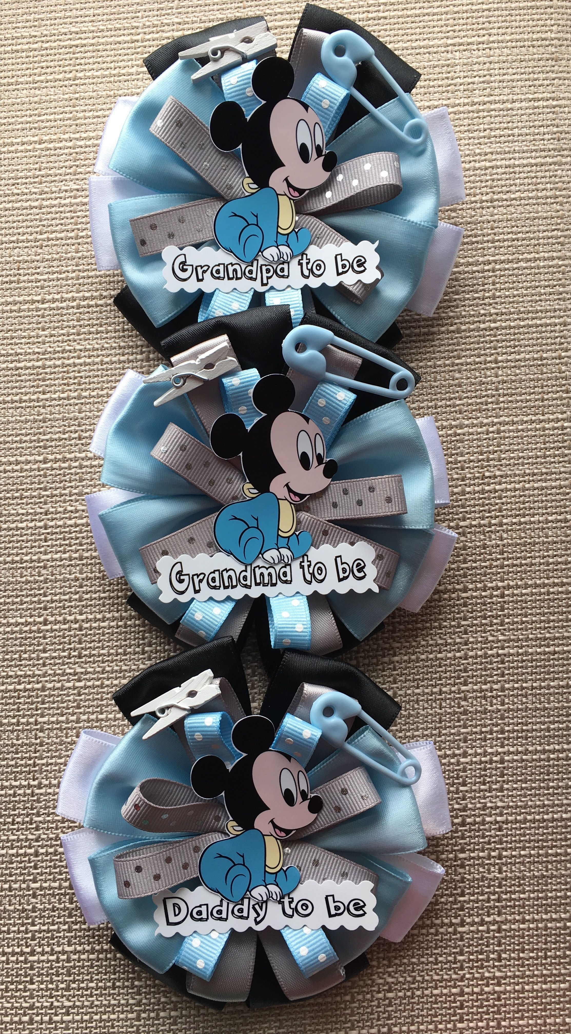 Mickey Mouse Pins For Grandma Grandpa And Daddy To Be Mickey