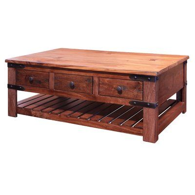Loon Peak Roby Coffee Table With 6 Drawer Products Table