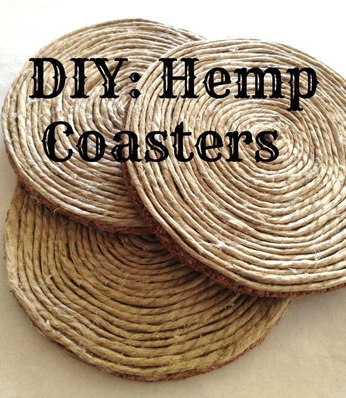 Sparkleknit Diy Hemp Coasters Hemp Crafts Hemp Art Diy Arts And Crafts
