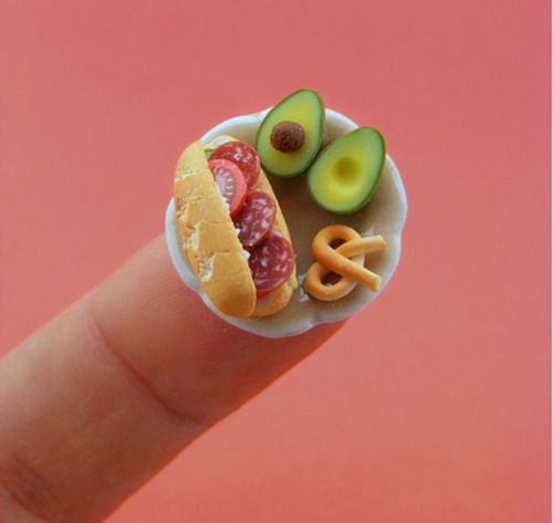 mini food figures so cute