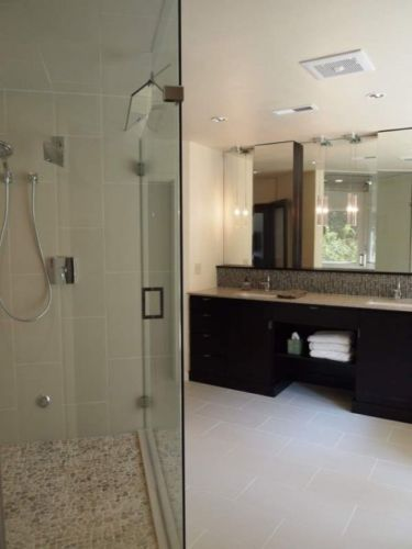 Sample Bathroom Designs Sample Asian Tan Natural Pebble Mosaic Wall Floor Tiles  Pebble