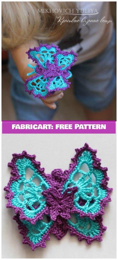 Crochet Butterfly Applique Free Pattern | Crochet Pattern Stitches ...