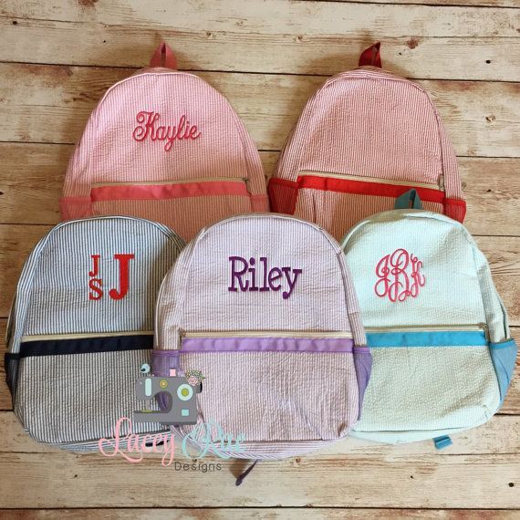 70d079cfdf Seersucker Preschool or Toddler Backpack Pink Blue purple