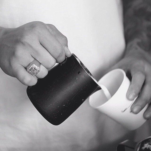 the making of #latte #latteart