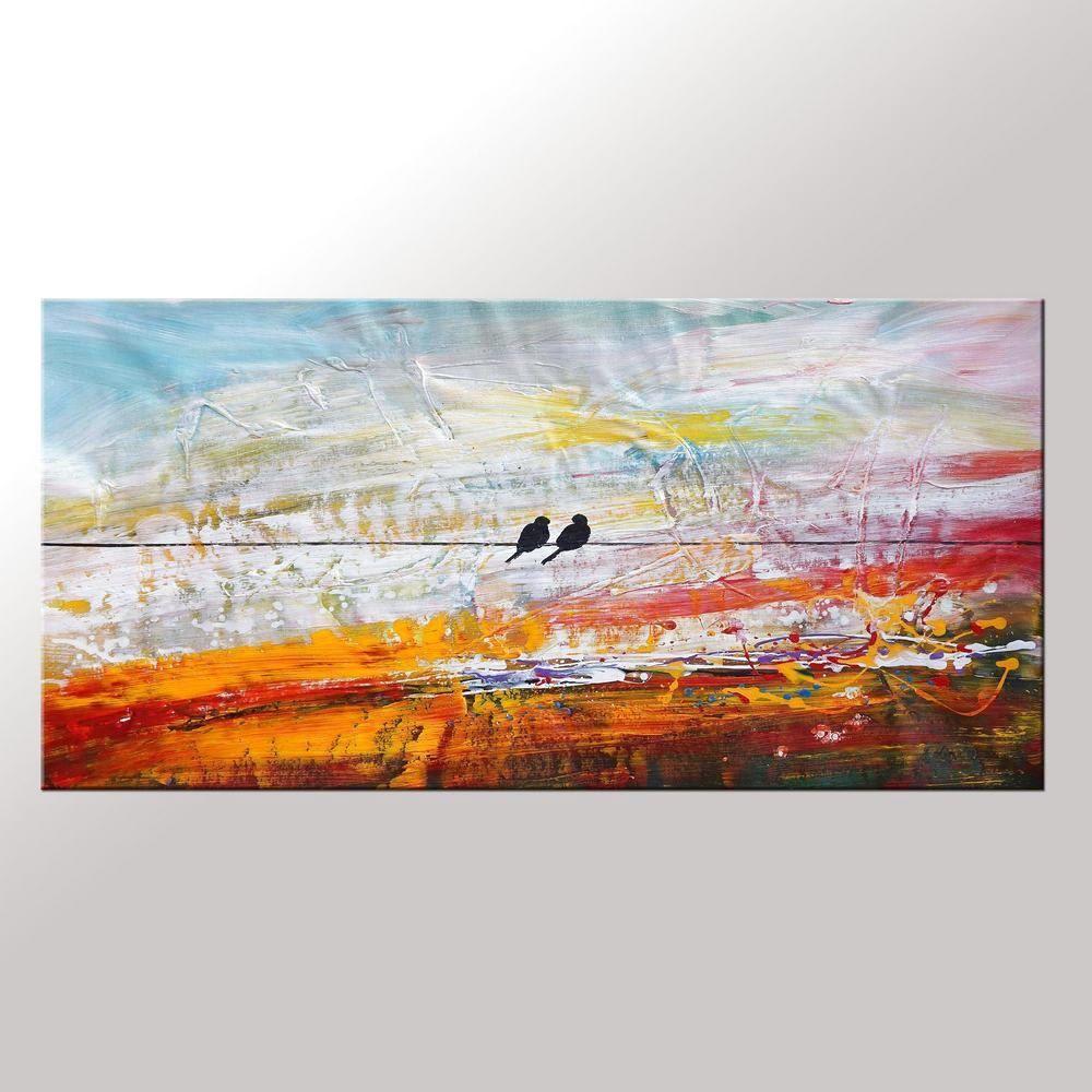 Arte de la lona pintura al óleo enmarcada Original por Topart007 ...