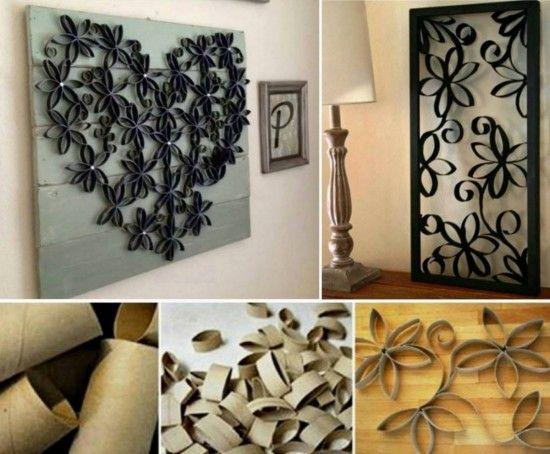 Paper Roll Flower Art Has Amazing 3d Effect Toilet Paper Roll