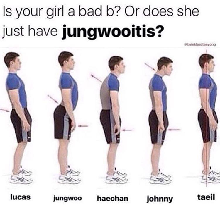 Pin By Echo Mic On ˏˋ Jungwooˊˎ Lumbar Lordosis Memes Kpop Funny