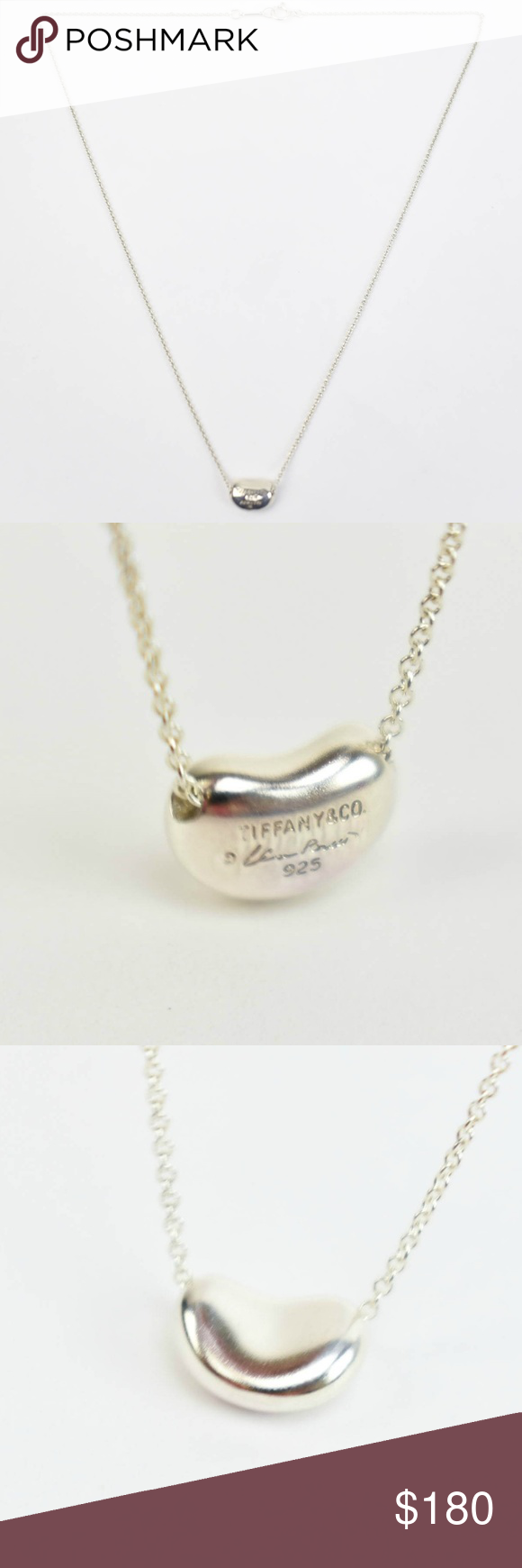 4b40f4269 TIFFANY & CO Sterling Silver Mini Bean Necklace my TIFFANY & CO