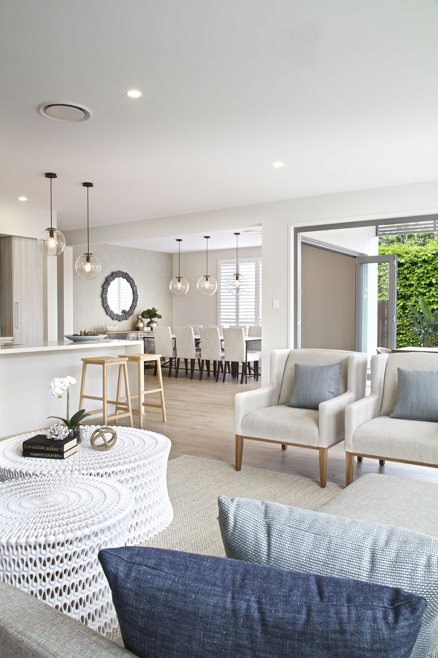Clarendon Homes. Bayside 39. Family room looking out past the ...