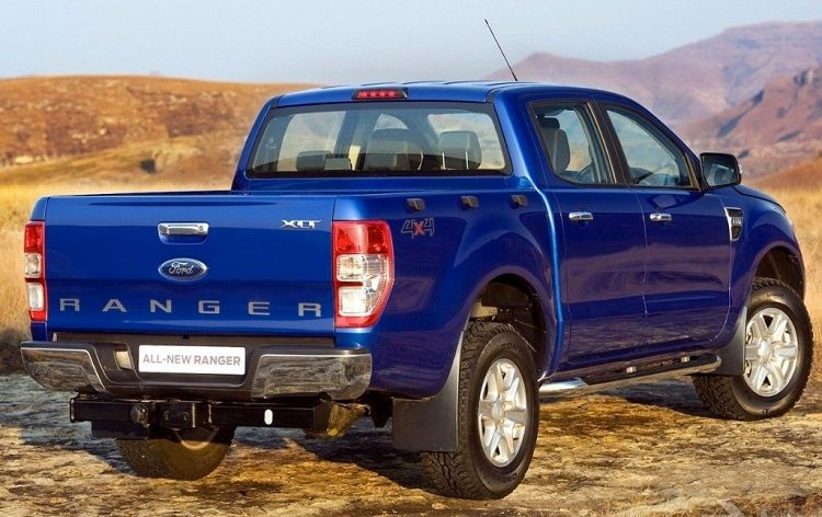 All New Ford Ranger 2014 Rear Blue Best Tech Cars Ford Ranger