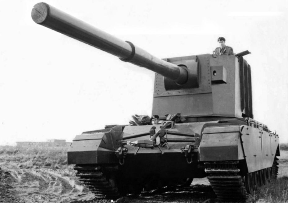 FV4005 Stage II during the test, 1956 - The British giant: 183 Anti-mm…