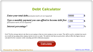 Free Credit Card Calculator For Your Website From Golden Financial