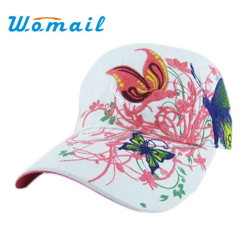 Womail 2017 여름 자수 야구 모자 여성 레이디 패션 쇼핑 사이클링 바이저 태양 모자 캡