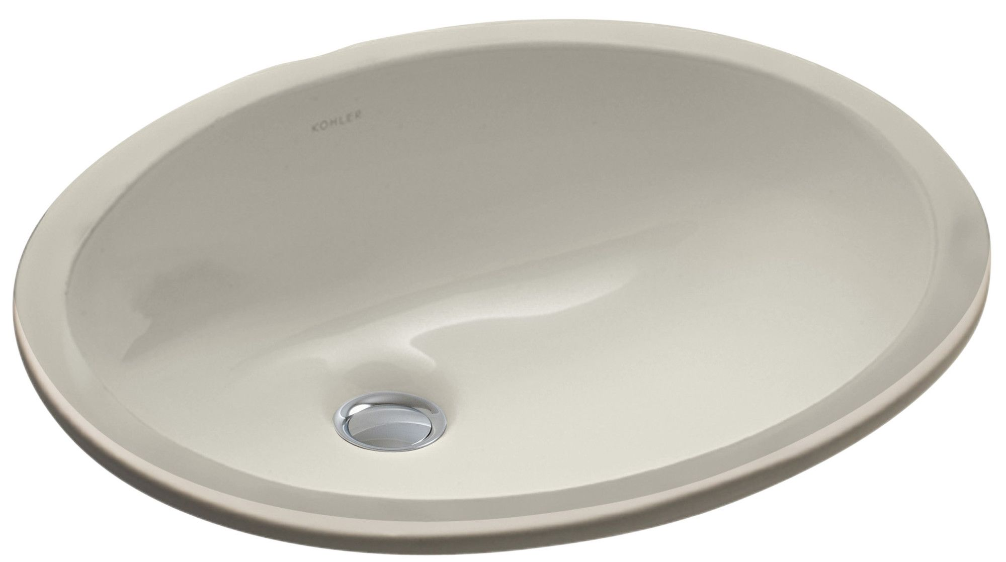 Caxton Ceramic Oval Undermount Bathroom Sink With Overflow