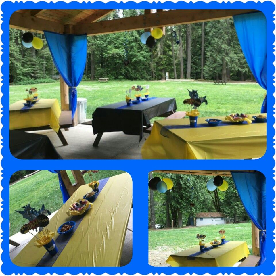 Yellow & Blue Decoration Birthday Party At The Park