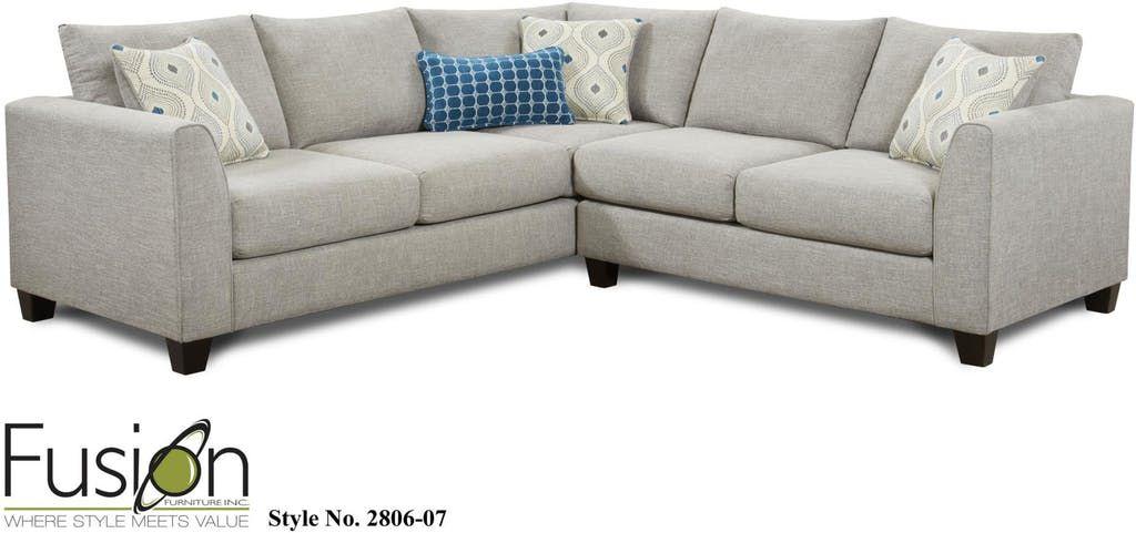 Fusion Living Room Raf Sectional 2806 Paradigm Quartz Hennen