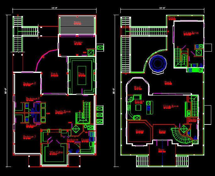 684x560 Floor Plan Sample House Autocad Hidup Hidup Sehat