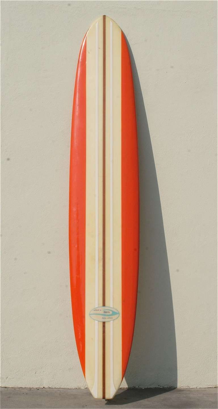 1960s phil longboard surfboard to the stars star