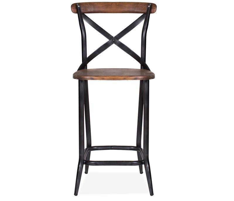 Astounding Rialto X Back Counter Stool Reclaimed Wood And Cast Iron Creativecarmelina Interior Chair Design Creativecarmelinacom