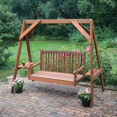 great american woodies red cedar hanging porch swing frame 82035 - Wood Porch Swing With Frame