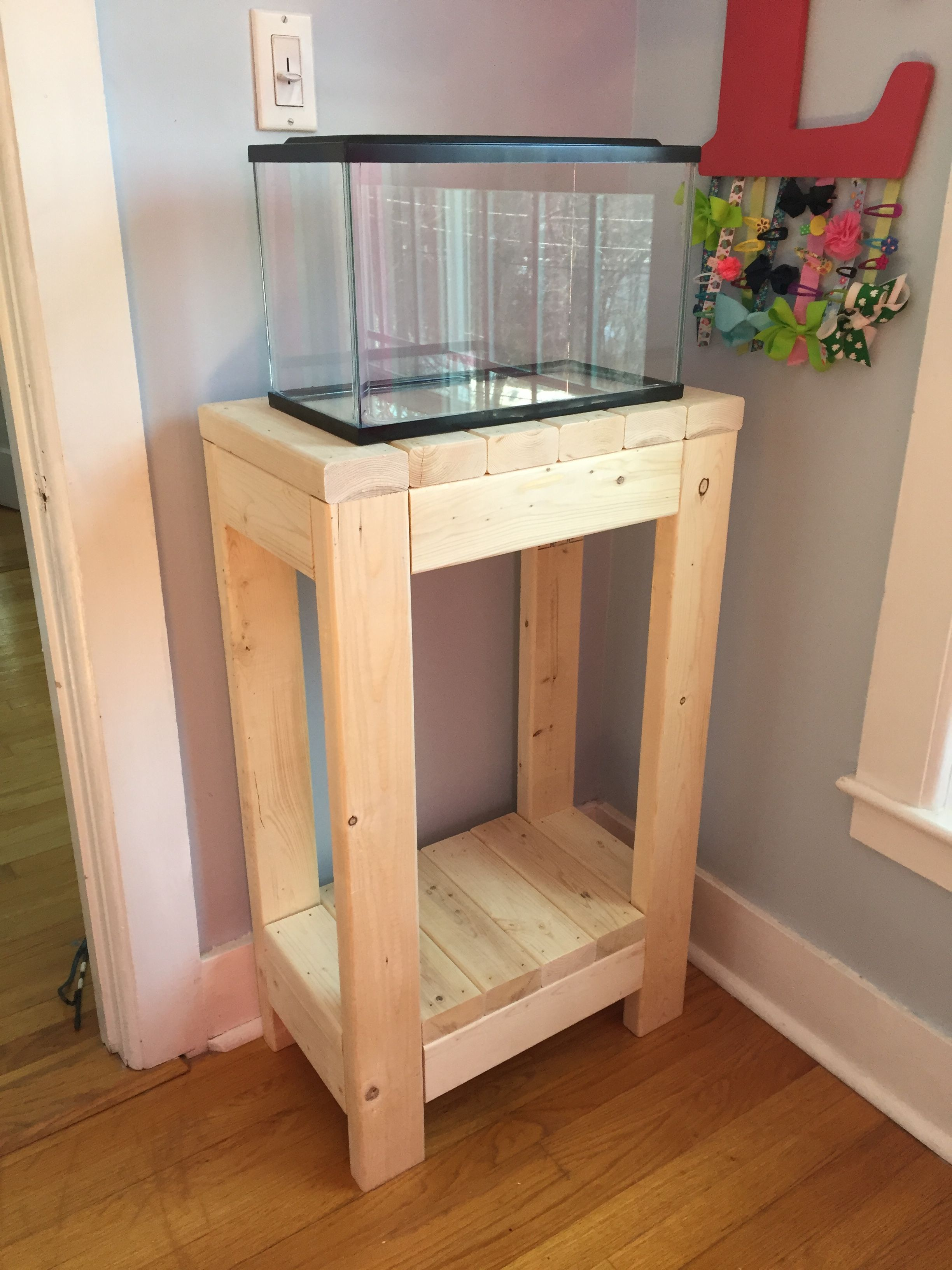 2x4 fish tank stand my projects pinterest fish tank for Fish tank table stand