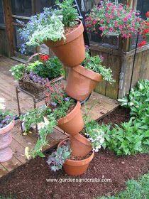 Stacked Container Garden. Clay PotsClay PlanterCraft ...