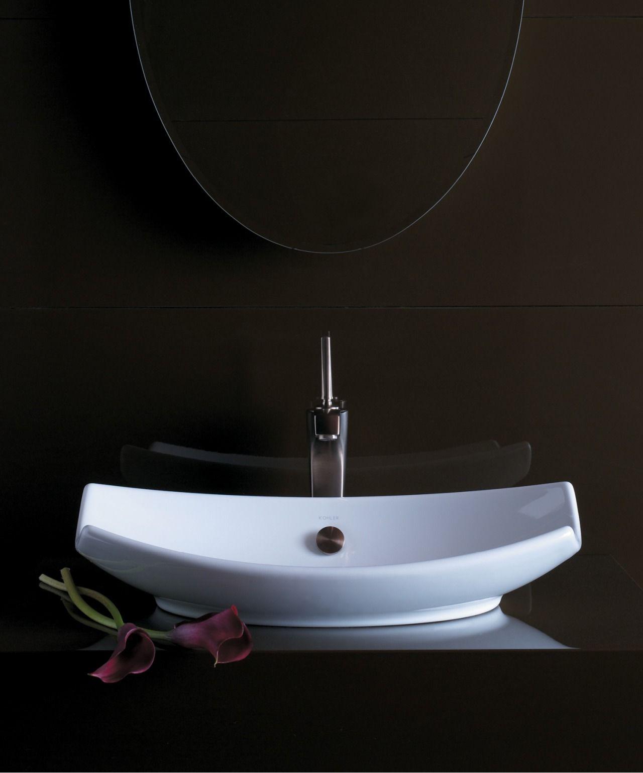 The Bold Look of   Bathroom remodel   Pinterest   Vessel sink ...